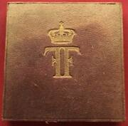 Egypt Intern Geographical Conference Medal King Fuad 1925 Original Box Rare