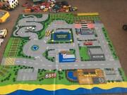 Childs Play Mat And Car Collection Tractor Vintage Ambulance Battery Operated