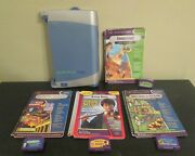 Quantum Pad Leap Frog - Learning System - 4 Books And Cartridges - Tested And Works