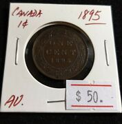 Canada 1895 Large Cent High Grade Nice Victorian Coin T43