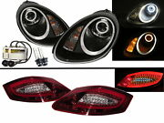Boxster 987 05-08 Hid Headlights Assembly + Led Tail Lights V2 For Porsche Lhd
