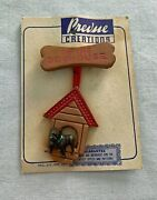 Wwii Original Sweetheart Jewelry Usmc Or Usa Army In The Dog House Pin 2