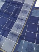 Fab Lot Of 4 Le Jacquard Francais Jardin Blue Kitchen Tea Towels 31and039and039x 23 New
