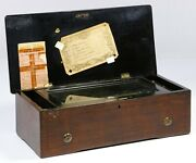 Excellent Working Swiss Marquetry Antique Music Box