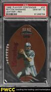 1998 Playoff Contenders Leather Red Die-cut Peyton Manning Rookie 37 Psa 10 Gem