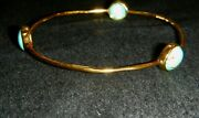 Ippolita Rock Candy 18k Gold And Turquoise 3 Station Bangle