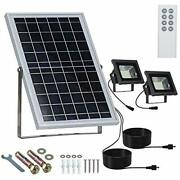 Solar Floodlights Outdoor Remote Control 10w 13.6x9.3 Separated Solar Panel...