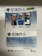2009 Tom Brady Manning Ryan Stafford Rc Ultimate Six Patches Game Used Logo /20