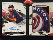 2021 Topps Inception Luis Garcia Rpa Rookie Team Logo Patch Auto Booklet 2/2