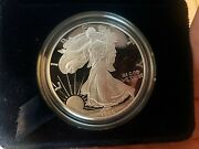 1995 Proof 1 .999 American Silver Eagle In Box With Coa