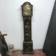 Antique Grandmothers Clock Chinoiserie Paintings Stunning Work
