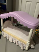 Little Tikes My Size Barbie Dollhouse Vintage Bedroom Canopy Bed 1990's,