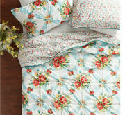 The Pioneer Woman Vintage Floral 3pc Quilt Set King Cotton Fabric New