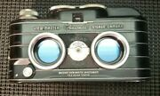 Sawyer's View-master Personal Stereo Camera Leather Case 2 Flash And Light Meters