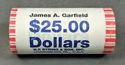 2011 D James A. Garfield Presidential Dollar 25 1 Unopened Roll From The Mint