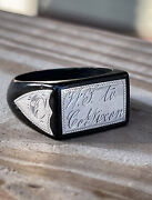 Confederate States Army Colonel George Henry Nixon Personal Ring Sterling Silver