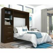 Atlin Designs 84 Full Wall Bed In Chocolate