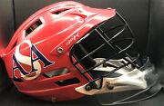 Cascade Cpx-r Red Adjustable Lacrosse Helmet Cpxr W/chinstrap And Neck Protector