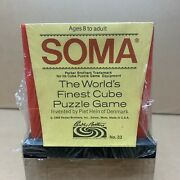 Soma Cube Puzzle Red Sealed Piet Hein 33 Parker Brothers 1969 - New Sealed