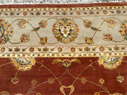9x12 Handmade Wool And Silk Rug Hand-knotted Chinese Rust Oriental Fine Carpet