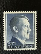 Third Reich Germany Postage Stamp 5rm / Adolph Hitler / Wwii /sc527 Mnh / 20