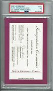 2009 Barack Obama Inauguration Ticket Psa 7 First African American President