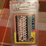 1975 Topps 531 Sparky Anderson - Reds Team Psa 8 - Nm/mt Rose Morgan Bench