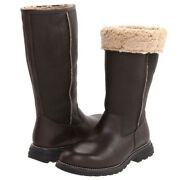 Women's Ugg Brooks Brown Tall Leather Shearling Lined Boots Size 6