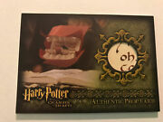 Artbox Harry Potter Prop Card /190 Chamber Of Secrets Howler Oh Variant 1/1