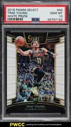 2018 Select Concourse White Prizms Trae Young Rookie Rc /149 45 Psa 10 Gem Mint