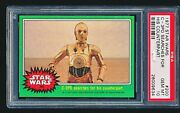 1977 Star Wars And039threepio Searches For His Counterpartand039 200 Psa 10 - Low Pop 1/8