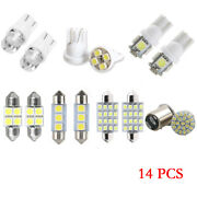 14x Car Interior Package Dome Map License Plate Mixed Led Light Accessories Kits
