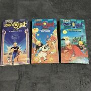 Johnny Quest Vhs Tape Lot Of 3 Race Bannon Dr.zin And Bandit Cartoon Network