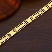 22k Yellow Gold Menand039s Bracelet Beautifully Handcrafted Diamond Cut Design 18