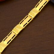 22k Yellow Gold Menand039s Bracelet Beautifully Handcrafted Diamond Cut Design 28