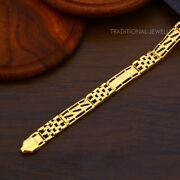 22k Yellow Gold Menand039s Bracelet Beautifully Handcrafted Diamond Cut Design 34
