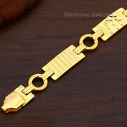 22k Yellow Gold Menand039s Bracelet Beautifully Handcrafted Diamond Cut Design 45
