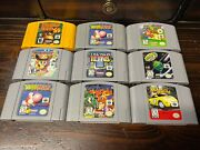 Lot Of Nintendo 64 N64 Video Games Pick A Title Cleanedtestedauthentic