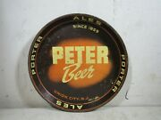 Vintage/antique 1930s Peter Beer Union City Nj Metal Tray