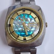 Tressa Lux Crystal Automatic Watch Swiss 1970s Vintage Working 100