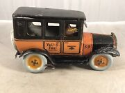 Antique Strauss Yell-o-taxi Tin Litho Wind-up