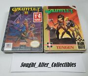 Nes Gauntlet 1 And 2 Lot Nintendo New Sealed H-seam Ultra Rare 1 Owner
