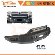 5/32 Steel Front Bumper Guard W/ Bright Lights For 2010-18 Dodge Ram 2500 3500