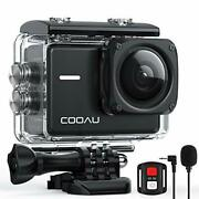 Native 4k 60fps 20mp Wi-fi Action Sports Camera With 8xzoom Upgraded Eis Anti