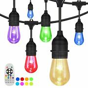 Outdoor String Lights, 100ft Waterproof Colored Changing Patio S14 100ft