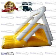 16x13ft Inflatable Triangle Floating Climbing Water Slide With Air Pump