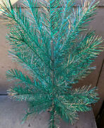 Christmas Tree Spangle White New Year On Stand Vintage Soviet Russian Ussr