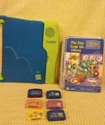 Leapfrog Original Leappad Learning Game System Console Green Blue 7books 6 Cart.