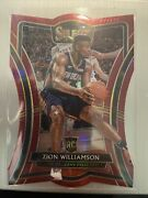 2019 Panini Select Red Die Cut Prizm 199 Zion Williamson 053/175 Rc Rookie
