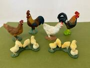 Schleich -farm Animals Lot 3 - Roosters Hens Chicks - Toy Figure / Figurine